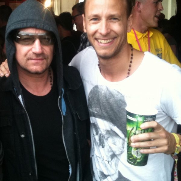 Rick Parfitt Jnr and Bono